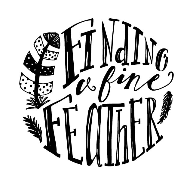 Finding a Fine Feather black and white logo