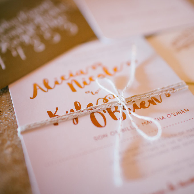 Wedding invitation suite details