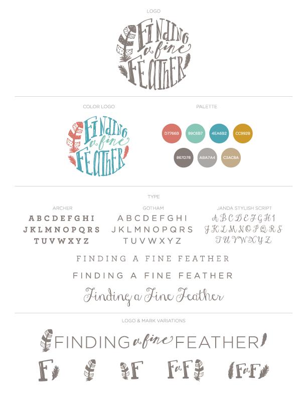 Finding a Fine Feather branding sheet