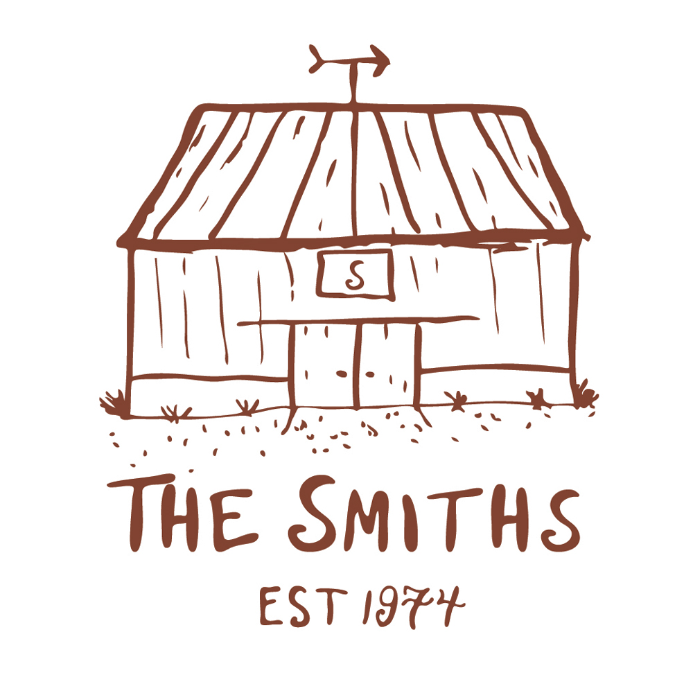 The Smiths est. 1974 barn detail sketch
