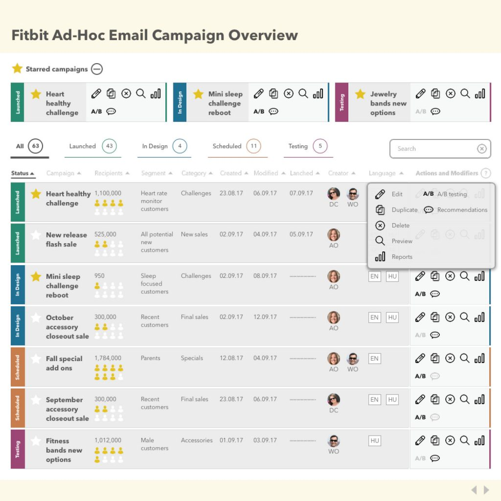 Email User Interface Prototype