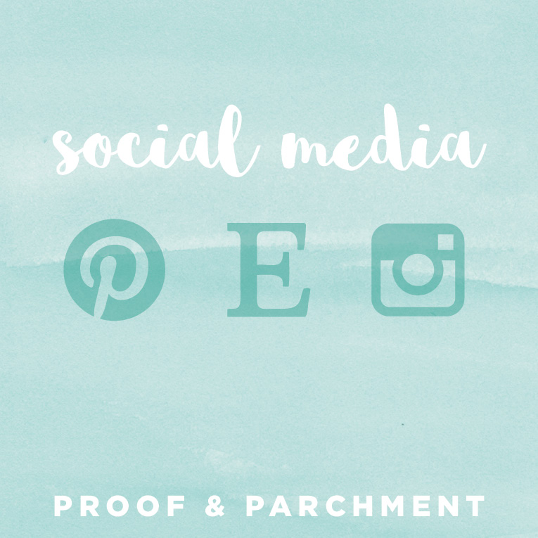 Proof & Parchment social media icon goals
