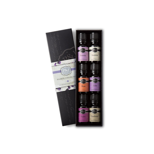 Floral scented aromatherapy oils
