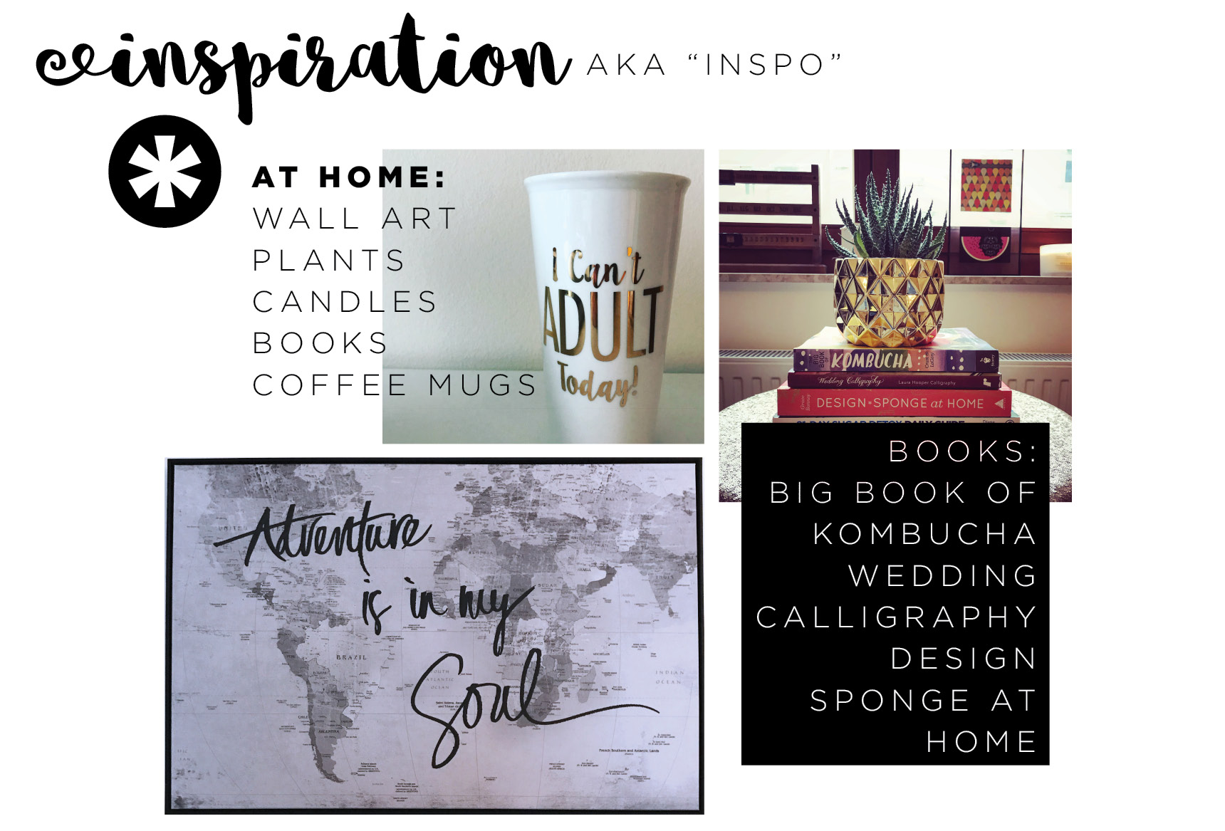 Inspiration at home graphic
