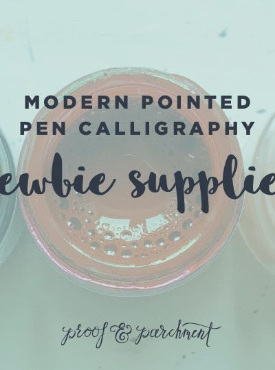Supplies You Need to get Started With Modern Pointed Pen Calligraphy header image
