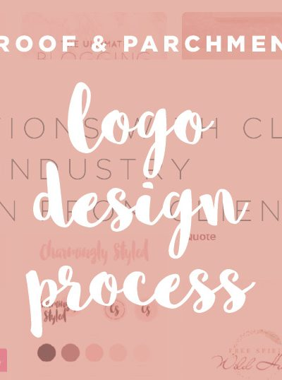 Logo design process header