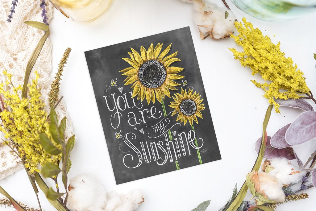 You Are My Sunshine Print from Lily & Val
