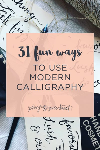 31 fun ways to use modern calligraphy blog post header
