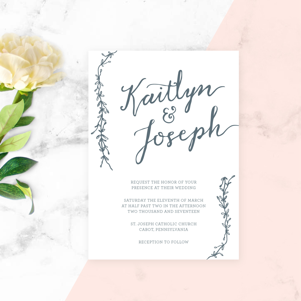 Proof & Parchment 31 fun ways to use modern calligraphy: Wedding Invitations