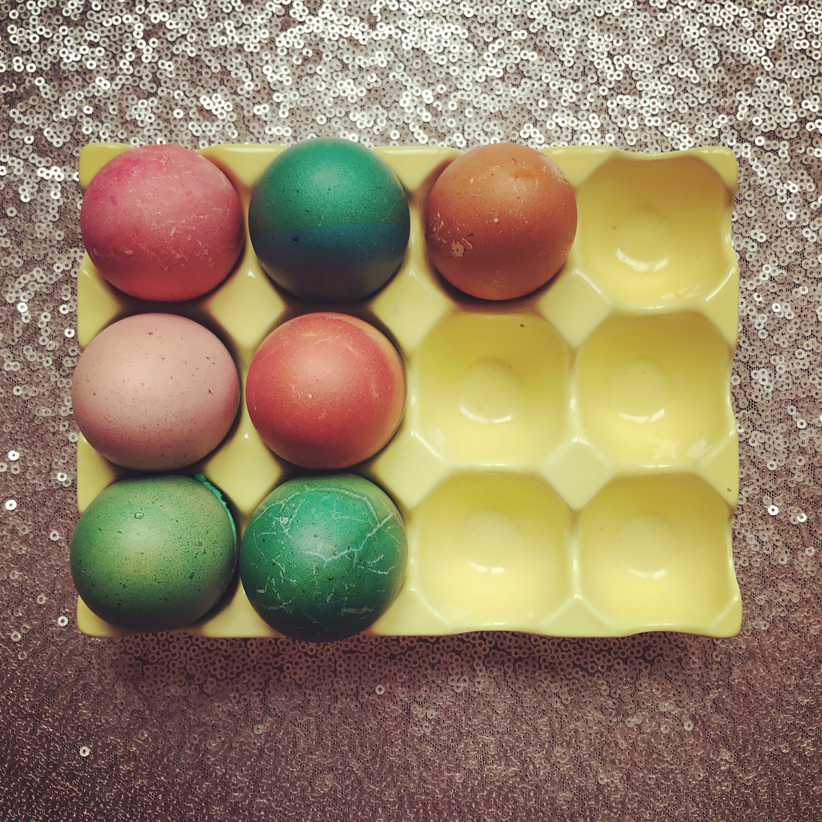 Joyful Week at Proof & Parchment: Colored Easter Eggs
