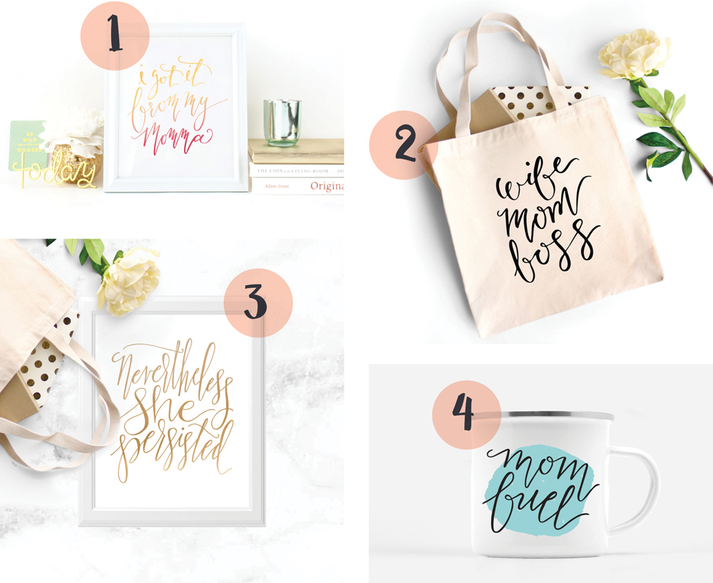 Joyful Mother's Day Gift Ideas RoundUp: Proof & Parchment prints, tote bags, and camp mugs