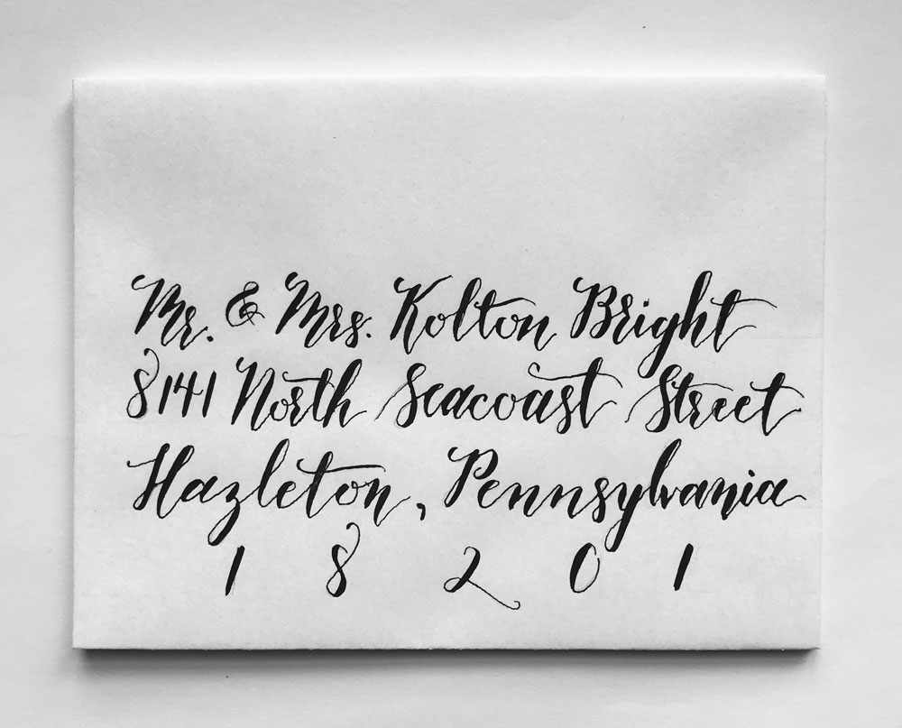 How to Address Your Envelopes With Calligraphy: Step 4