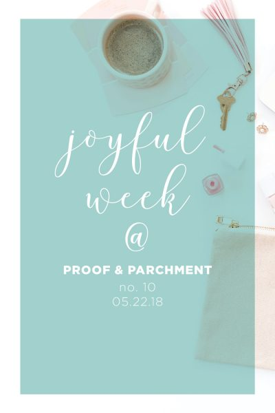 Joyful Week at Proof & Parchment no. 10: The Royal Wedding and Positively Present