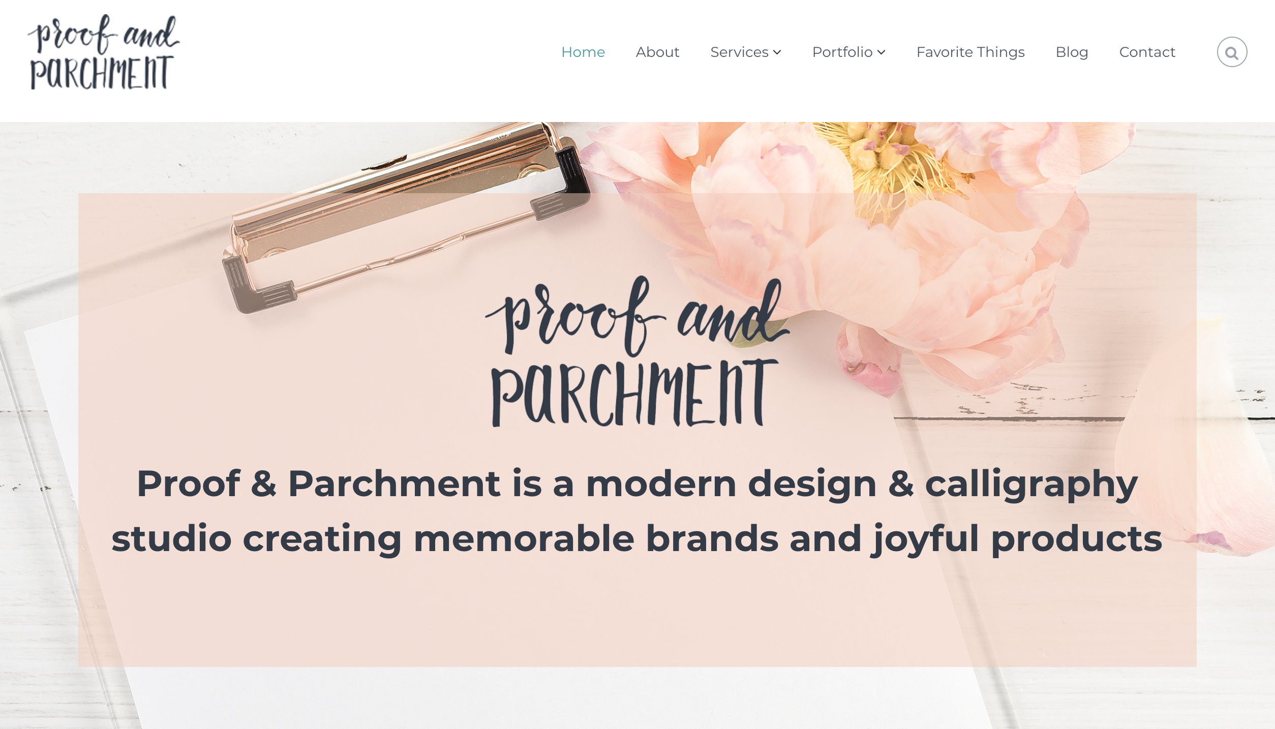 Joyful Week at Proof & Parchment no. 13: Proof & Parchment Homepage Refresh