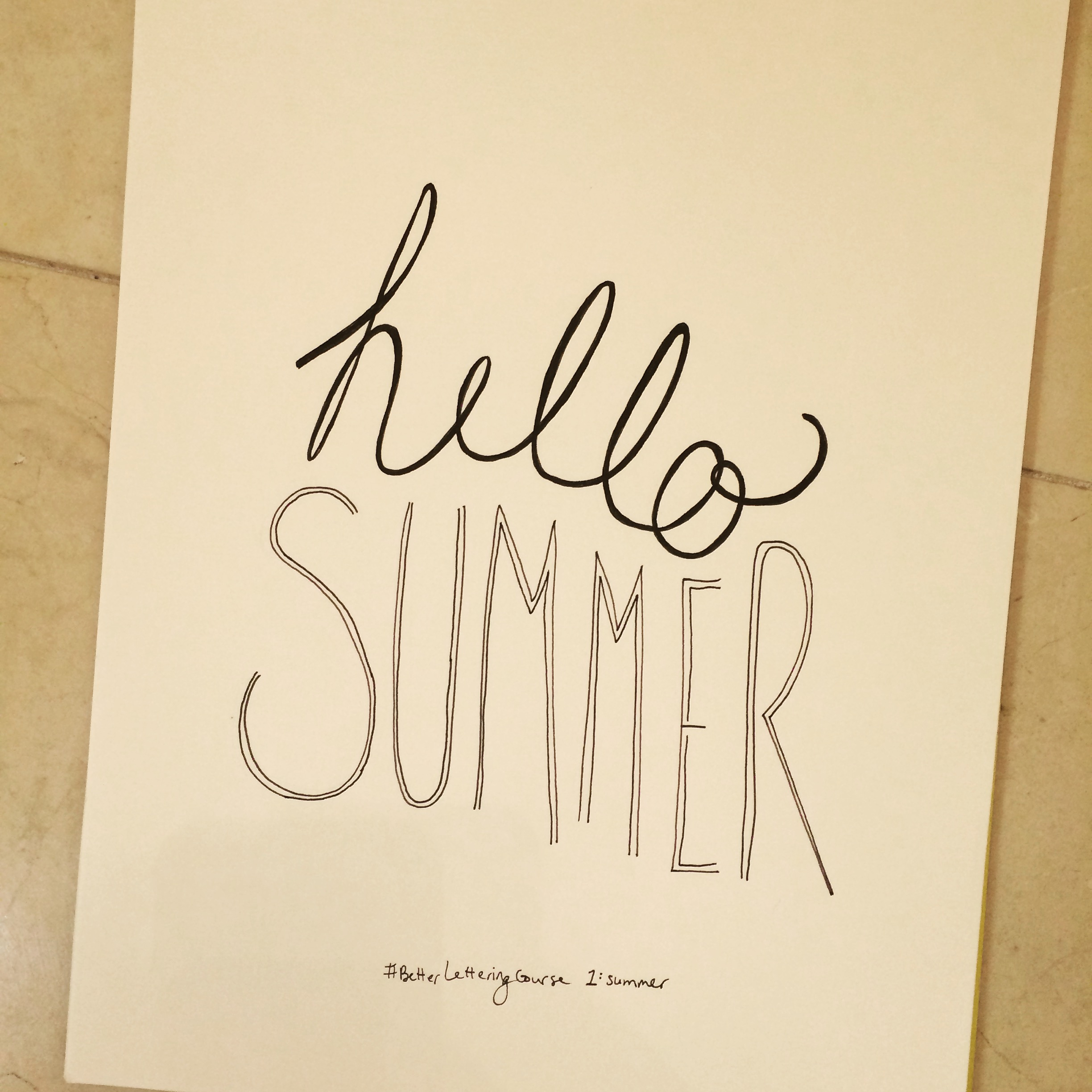 Learn to Hand Letter: Amazing Hand Lettering Resources: Hello Summer