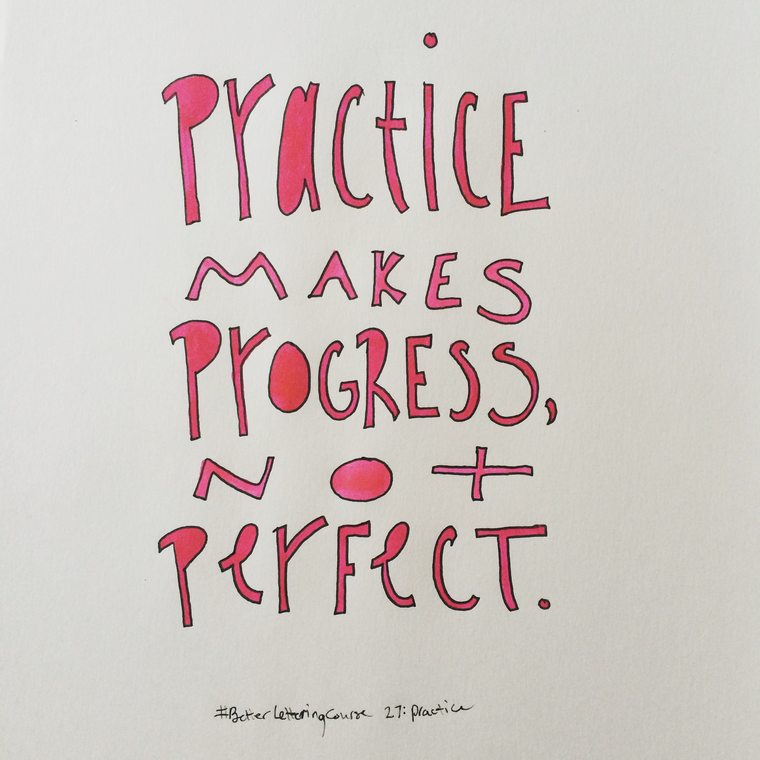 Learn to Hand Letter: Amazing Hand Lettering Resources: Practice Makes Progress, Not Perfect.