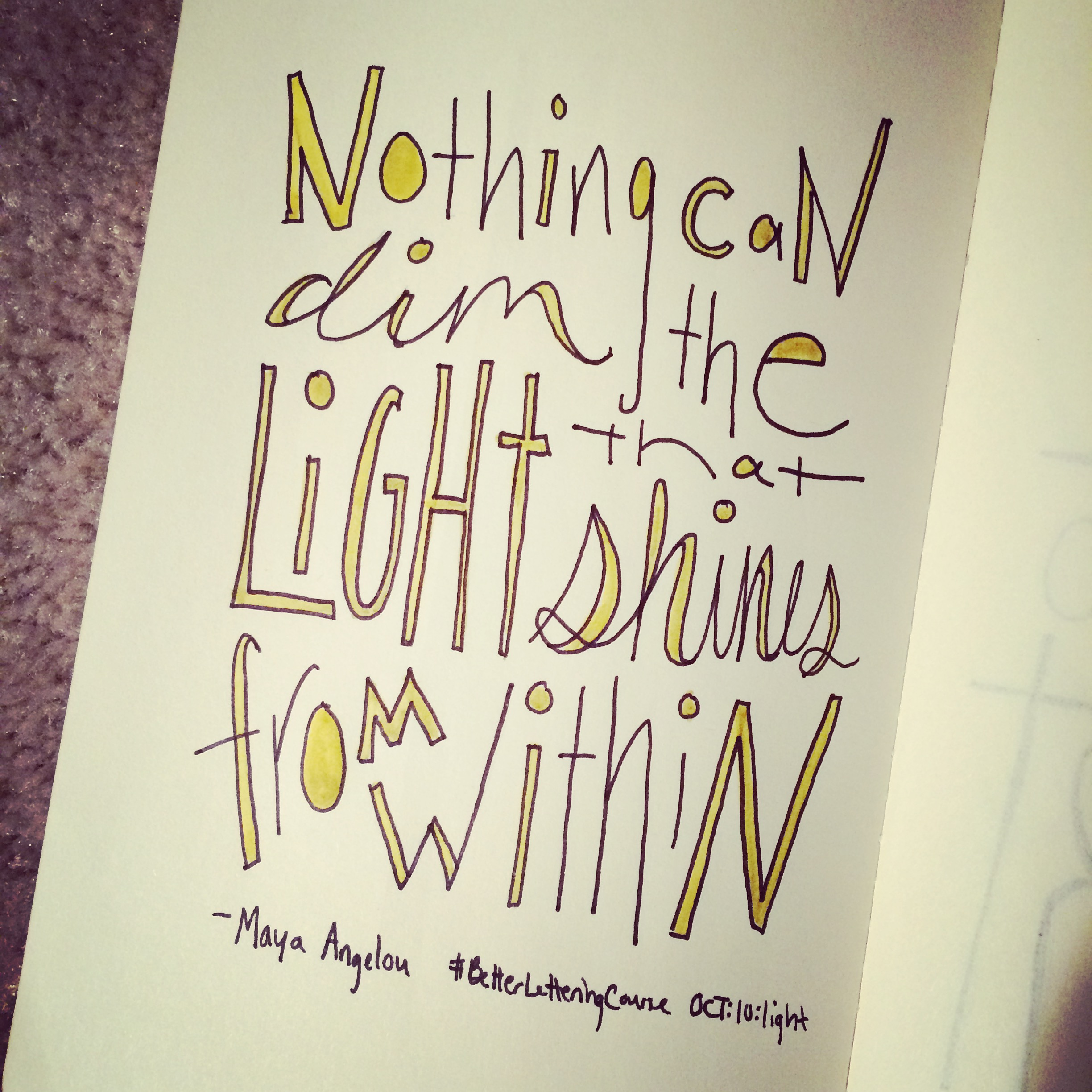 Learn to Hand Letter: Amazing Hand Lettering Resources: Nothing Can Dim the Light