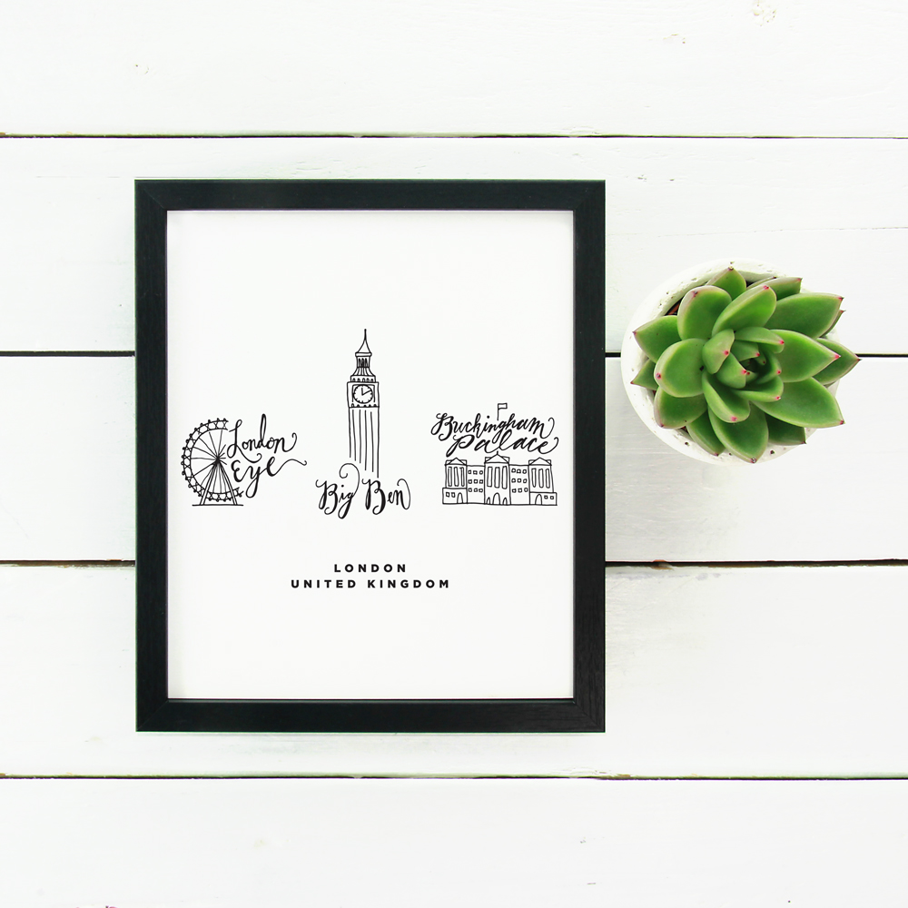 World Traveler Prints: London Map