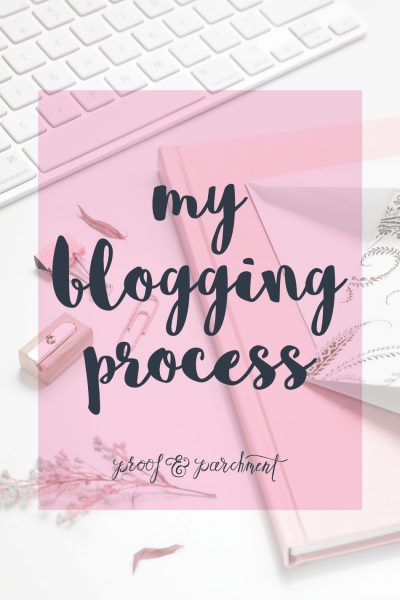 The Blogging Process at Proof and Parchment