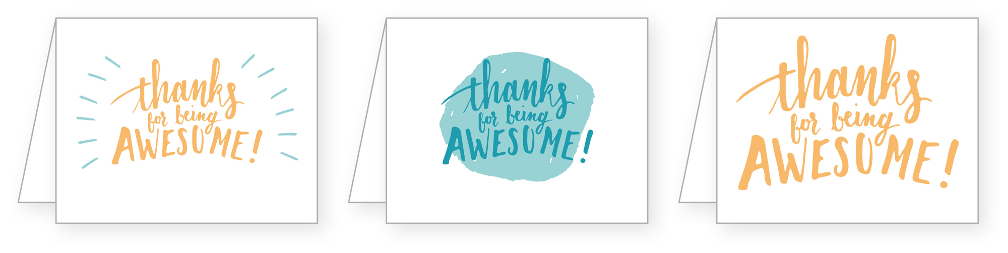 Joyful Week at Proof & Parchment no. 13: Thanks For Being Awesome Cards