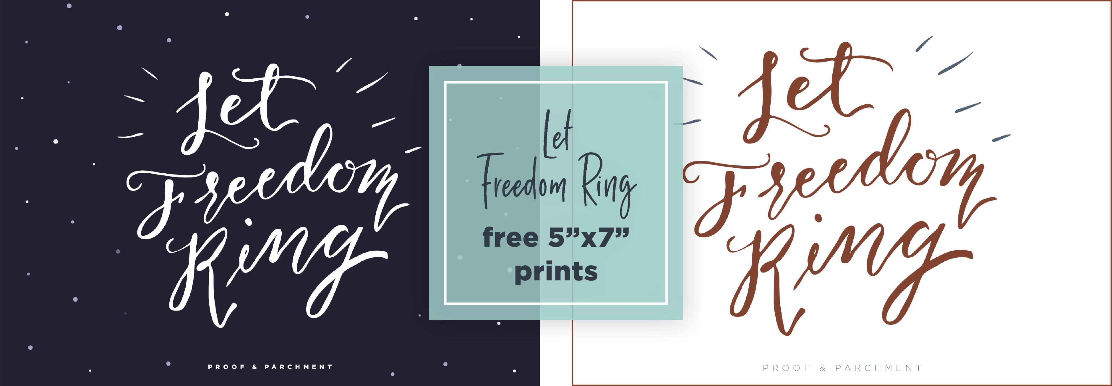 July's Summer Holiday Freebies: Let Freedom Ring prints
