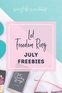 July's Summer Holiday Freebies