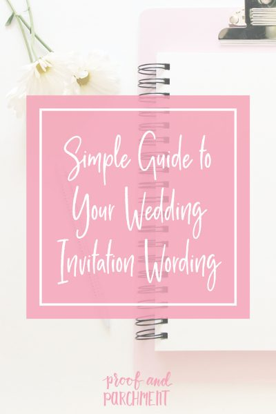 Simple Guide to Your Wedding Invitation Wording Header