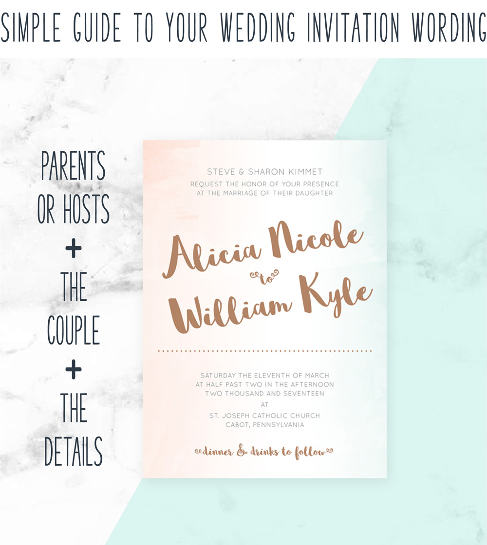 Wedding invitation wording made easy with this simple guide to simple guide to your wedding invitation wording simple guide formula filmwisefo