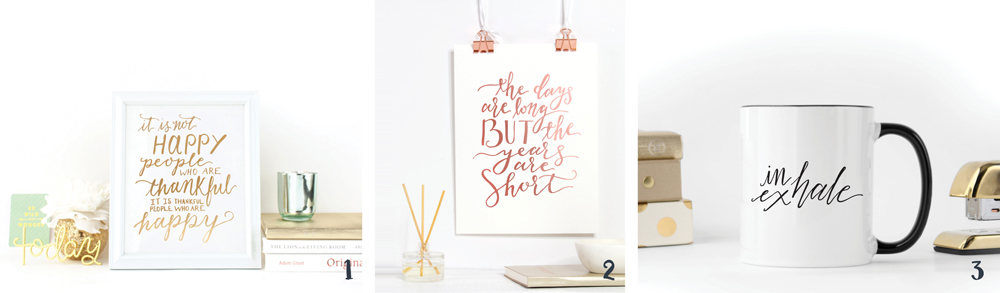How to Decorate Your Home With Calligraphy: Proof and Parchment Prints