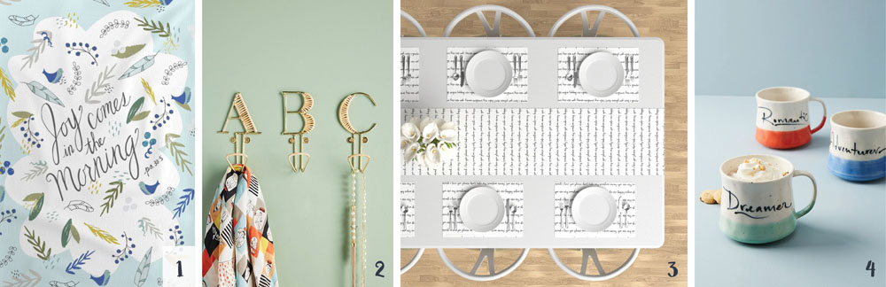 How to Decorate Your Home With Calligraphy: Home goods