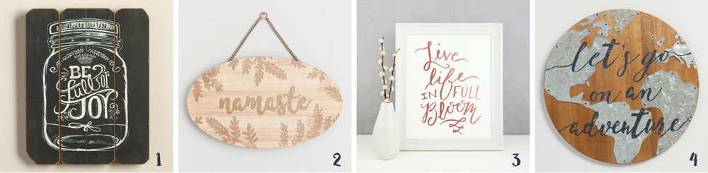 How to Decorate Your Home With Calligraphy: Wall art