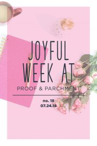 Joyful Week at Proof & Parchment no. 18: Christmas in July Sale and Lululemon Align Pants