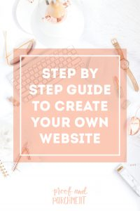 Step by step guide to create your own website