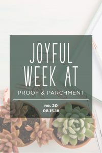Joyful Week at Proof & Parchment no. 20: New calligraphy inks, Sziget, and product samples