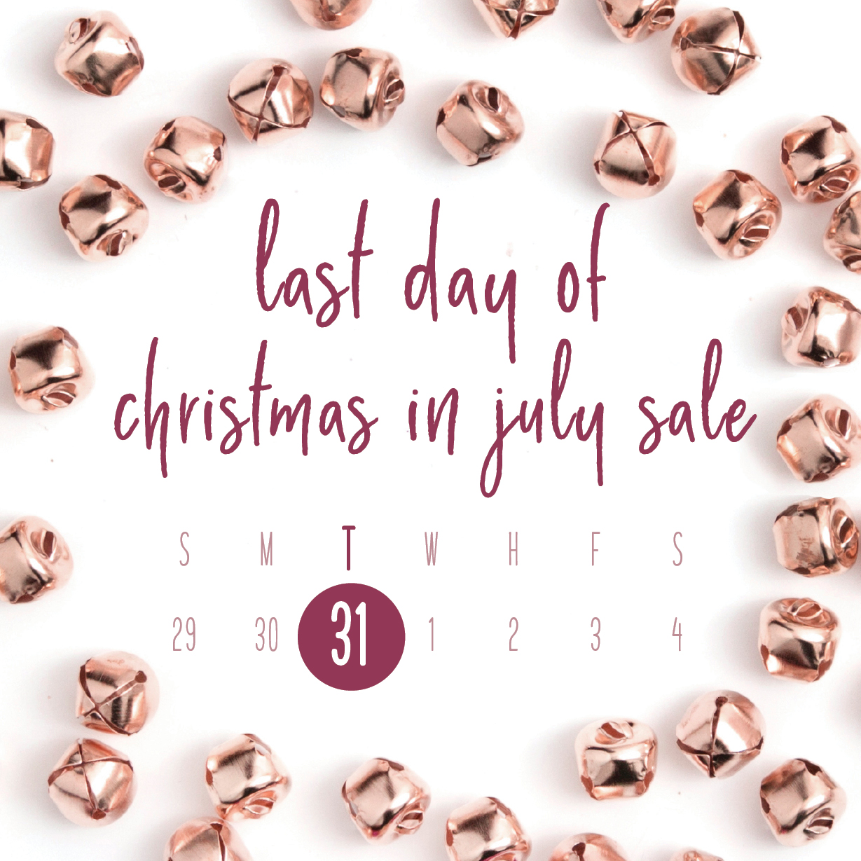 A Week in the Life of a Creative Entrepreneur: Christmas in July sale graphic completed
