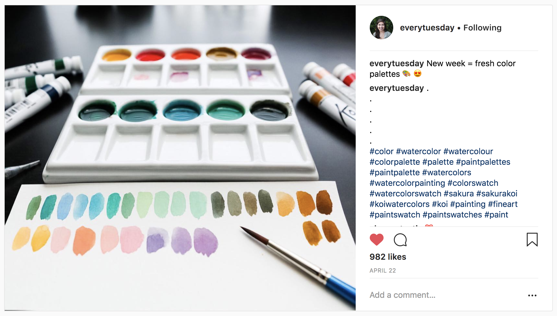 10 Watercolor Artist Inspiration Accounts to Follow: everytuesday