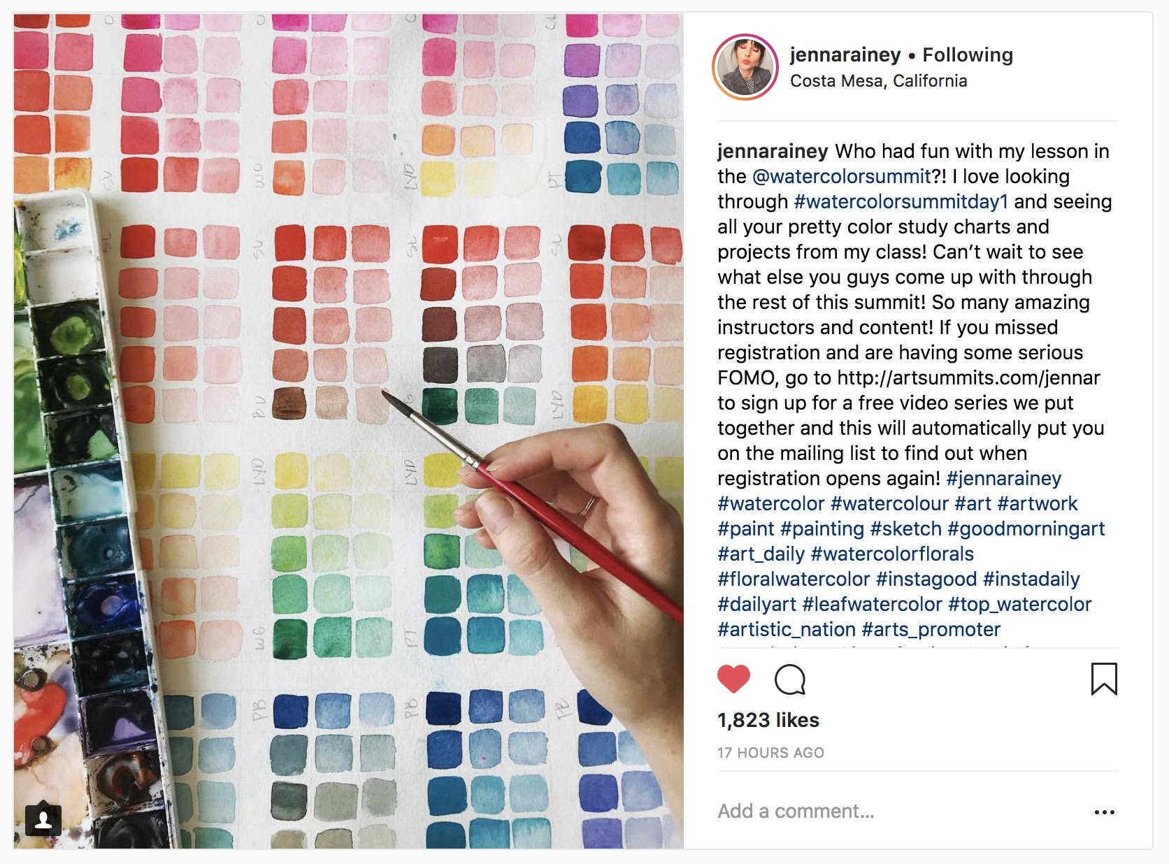 10 Watercolor Artist Inspiration Accounts to Follow: jennarainey
