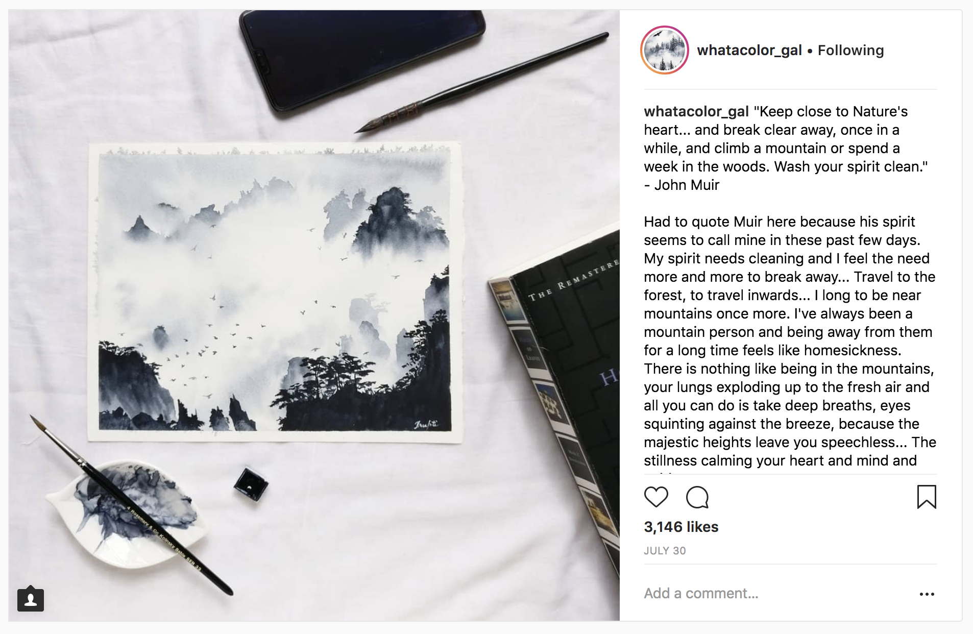 10 Watercolor Artist Inspiration Accounts to Follow: whatacolor_gal