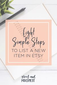 8 Simple Steps to List a New Item in Etsy