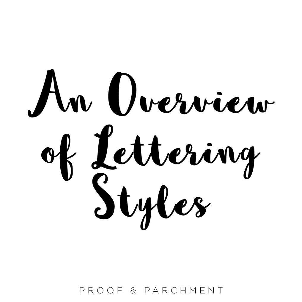 An Overview and Comparison of Lettering Styles: Handwritten Fonts, sophia