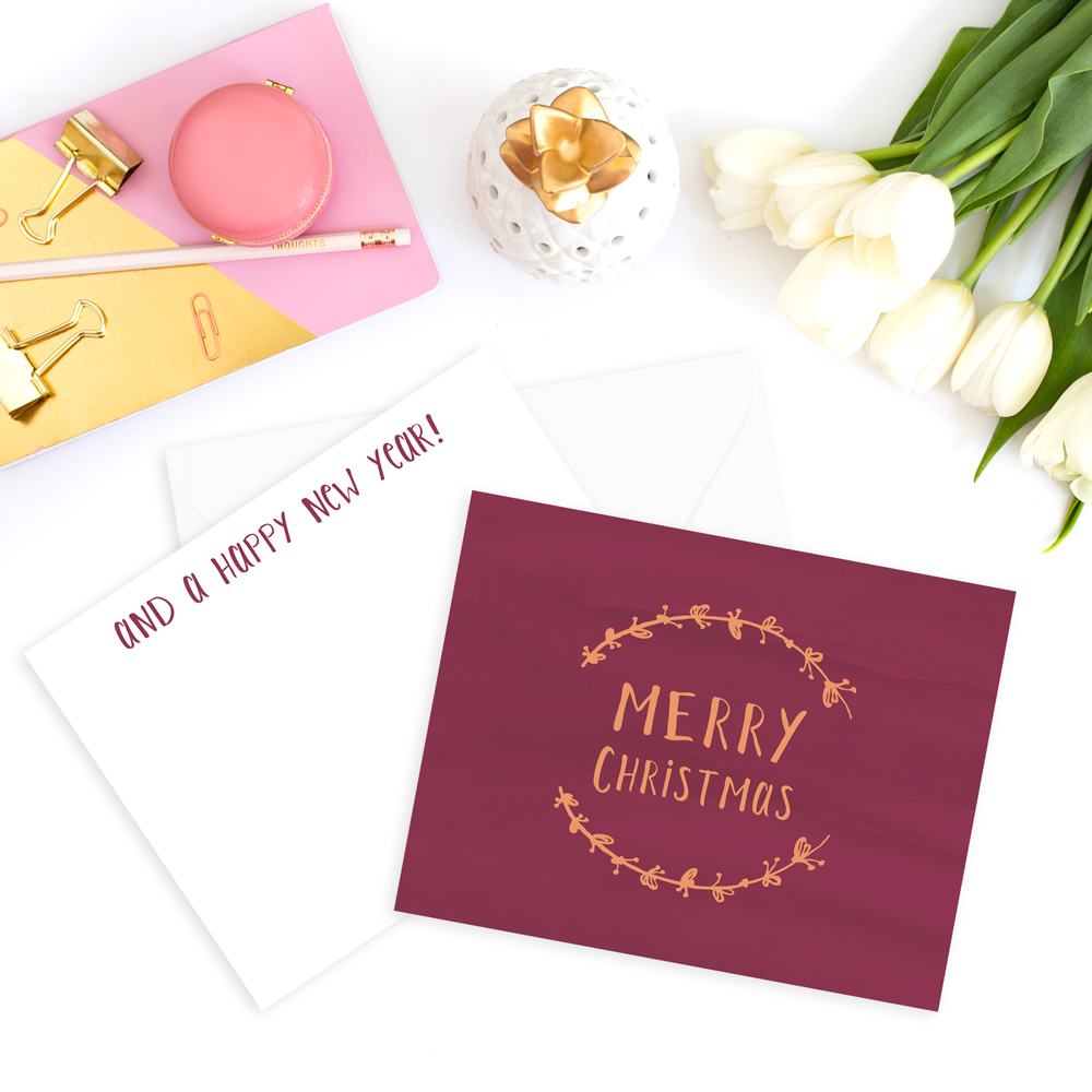 An Overview and Comparison of Lettering Styles: Hand lettering on a Christmas card