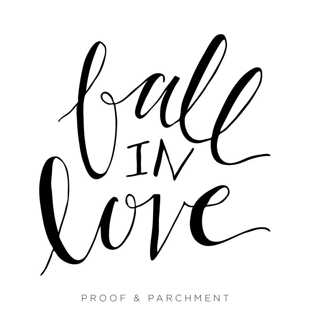 An Overview and Comparison of Lettering Styles: Mixed Style, fall in love