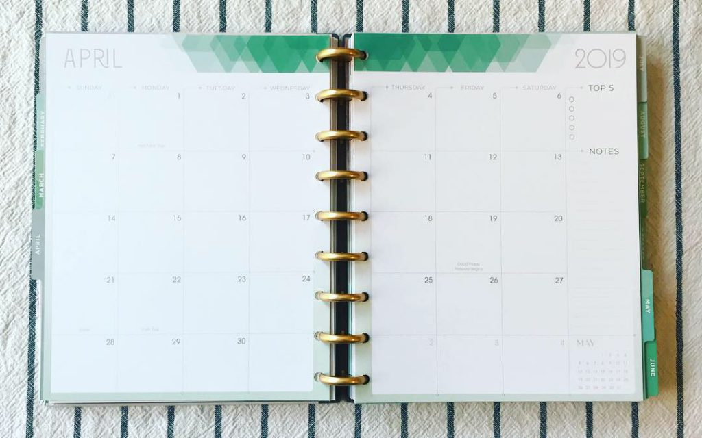 8 Simple Steps to List a New Item in Etsy: Monthly planning