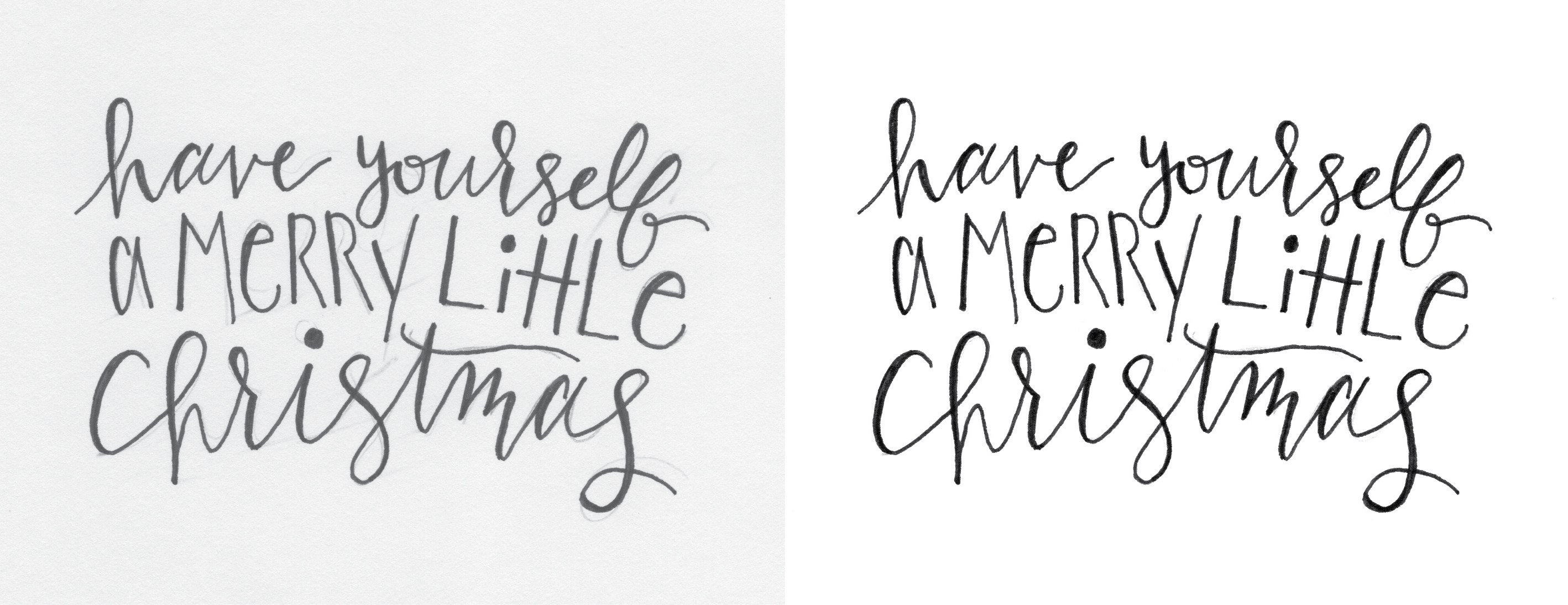 Behind the Designs of Christmas Cards: Have Yourself a Merry Little Christmas sketches