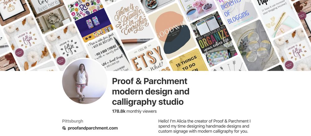 Give Your Pinterest Boards a Facelift: Proof & Parchment Pinterest Page