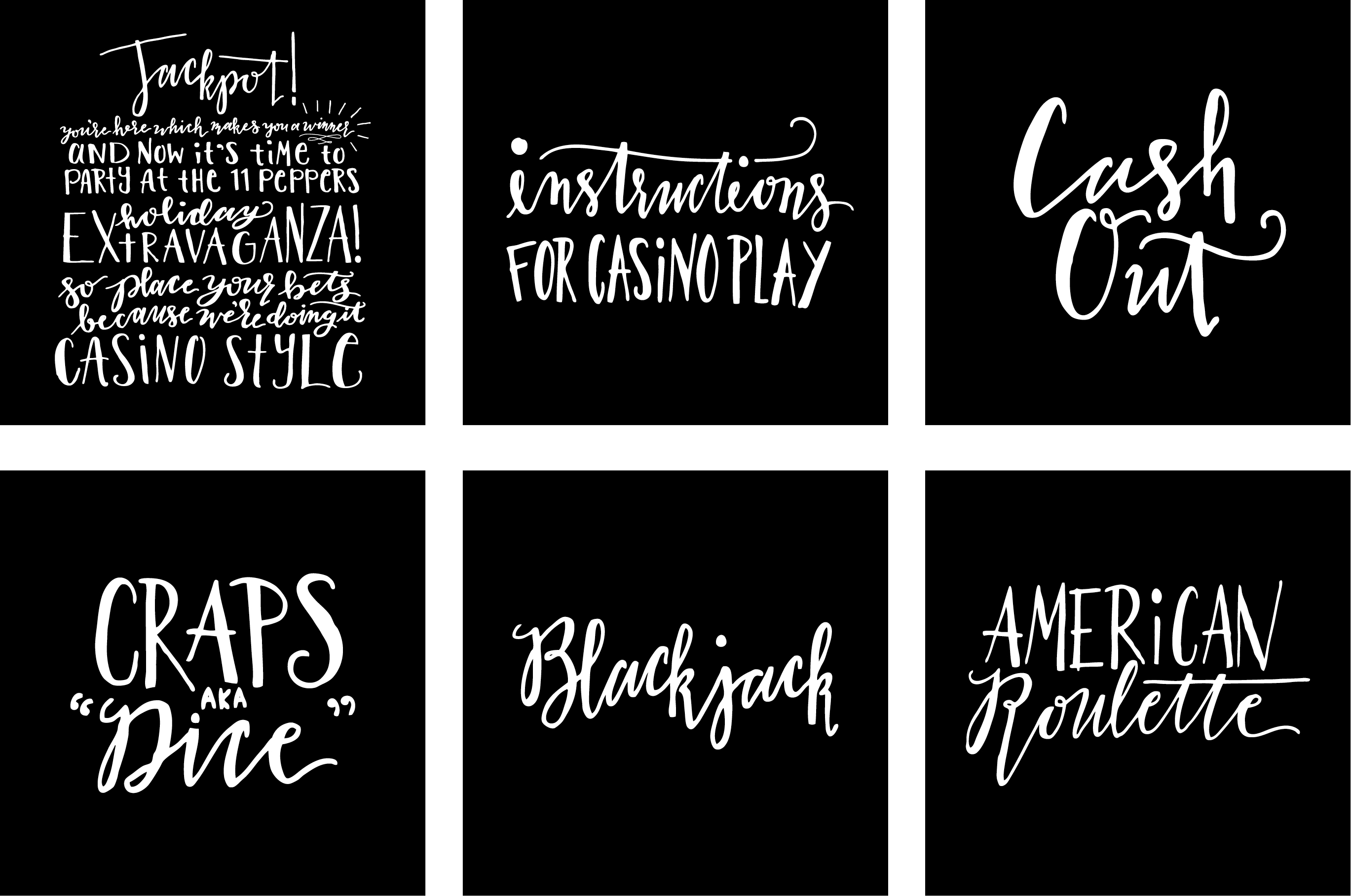 Hand Lettering Designs From the 2018 Holiday Season: 11 Pepper Graphics