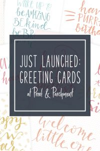 Just Launched: Greeting Cards at Proof & Parchment