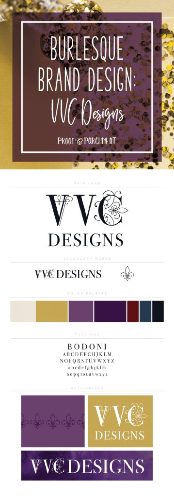 Burlesque Brand Design: VVC Designs & brand stylesheet