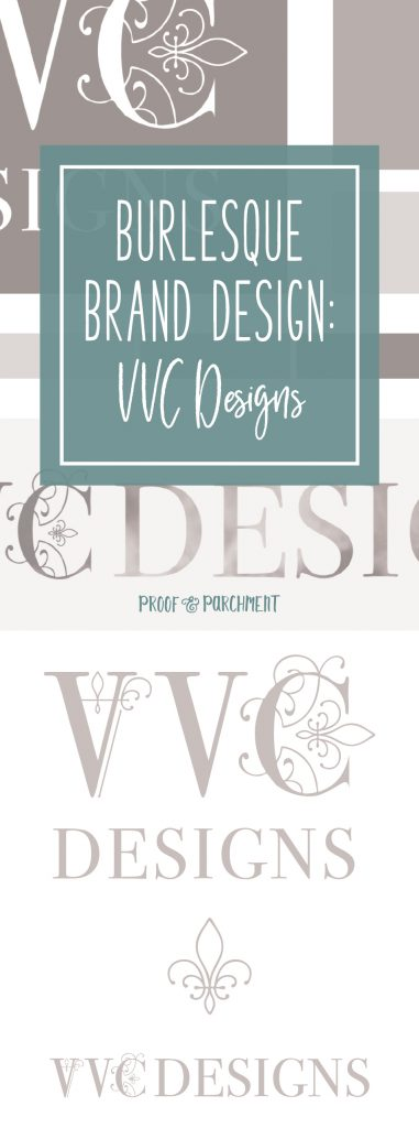 Burlesque Brand Design: VVC Designs & main logos