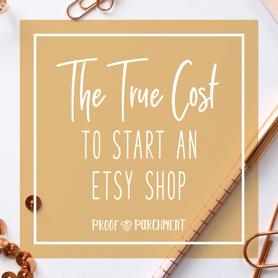 The True Cost to Start an Etsy Shop